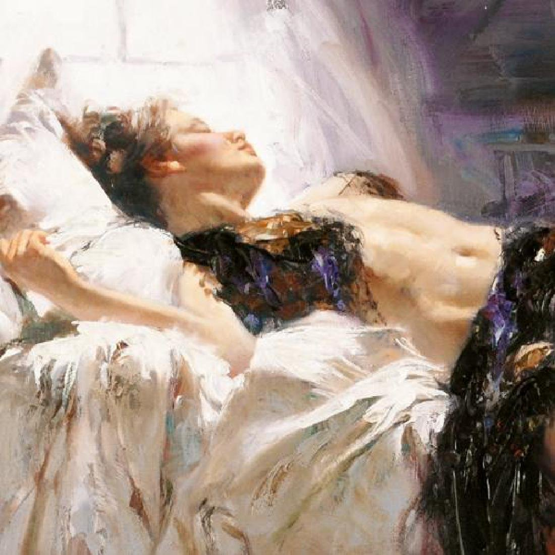 """Morning Dreams"" LIMITED EDITION Artist-Embellished - 2"