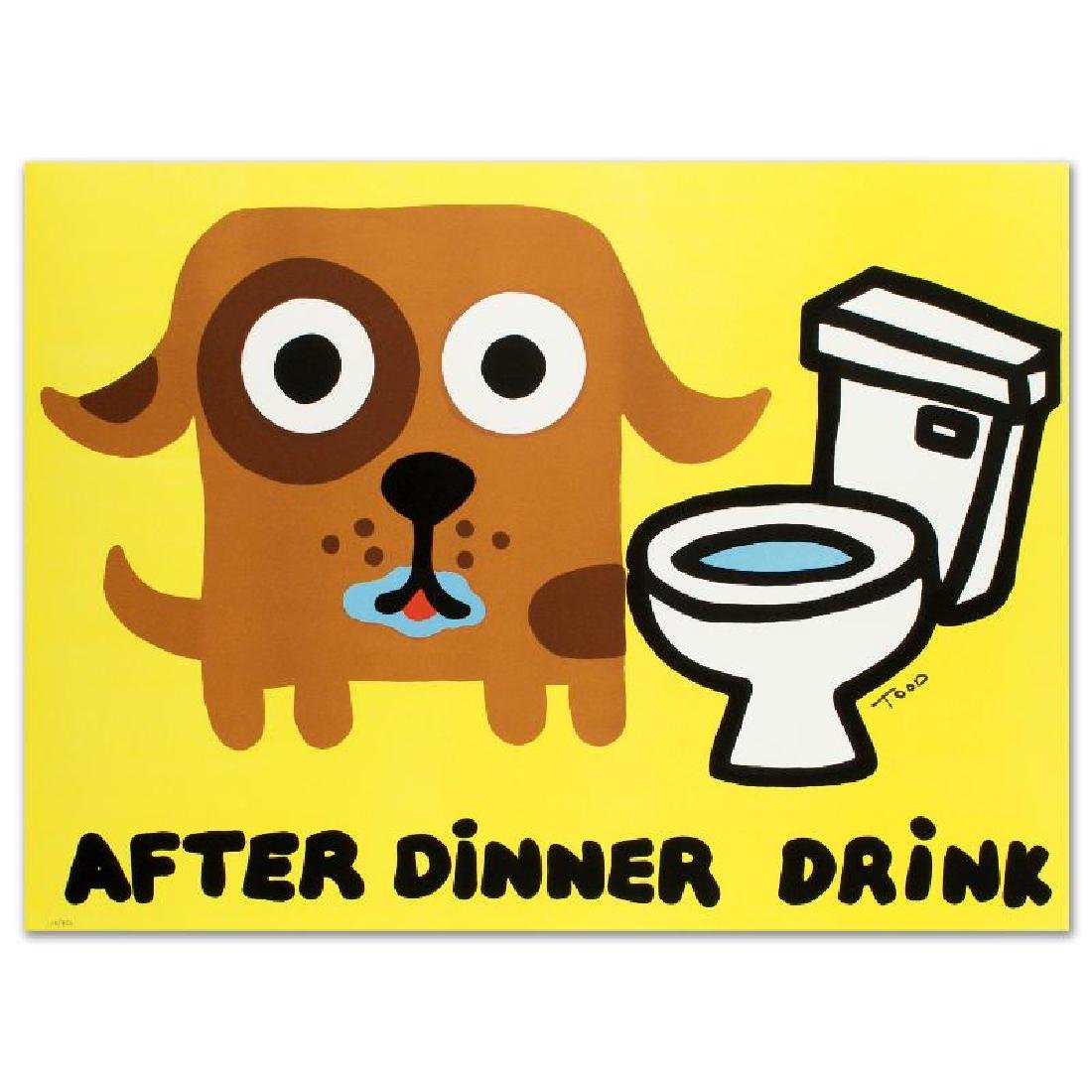 After Dinner Drink Limited Edition Lithograph by Todd