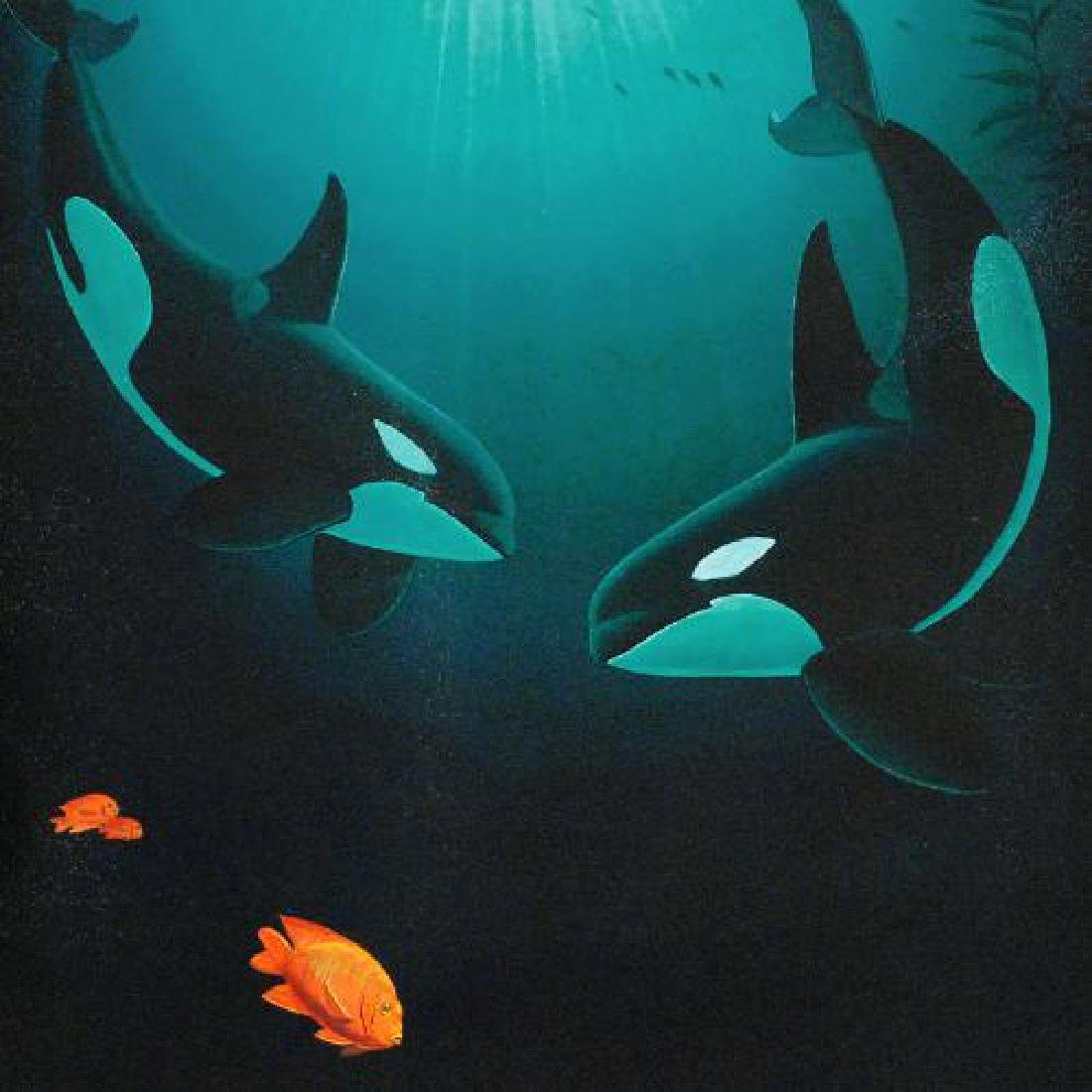 """In the Company of Orcas"" LIMITED EDITION Giclee on - 4"