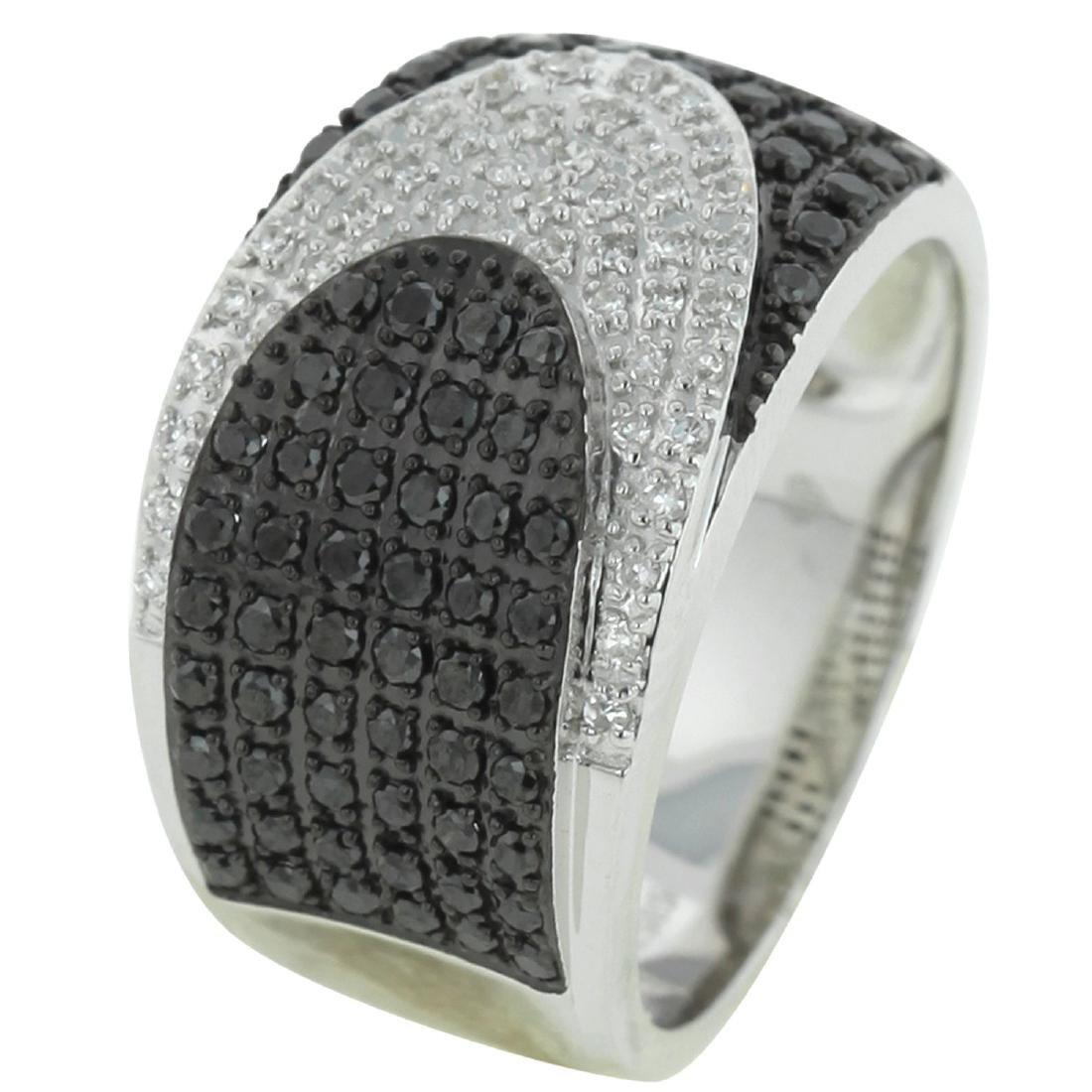 14KT White Gold Women's Diamond Ring - 2