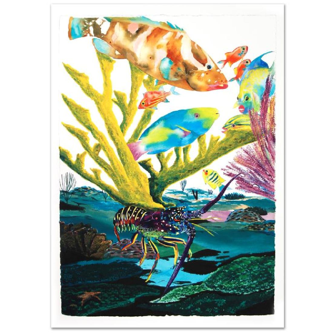 """""""Coral Reef Life"""" Limited Edition Giclee Diptych on - 4"""