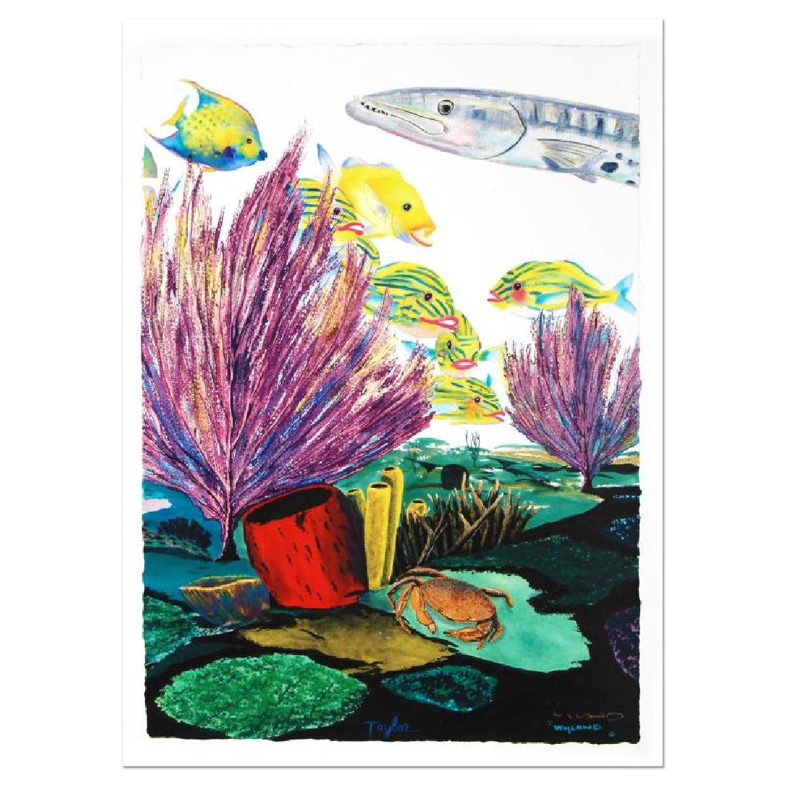"""""""Coral Reef Life"""" Limited Edition Giclee Diptych on - 5"""