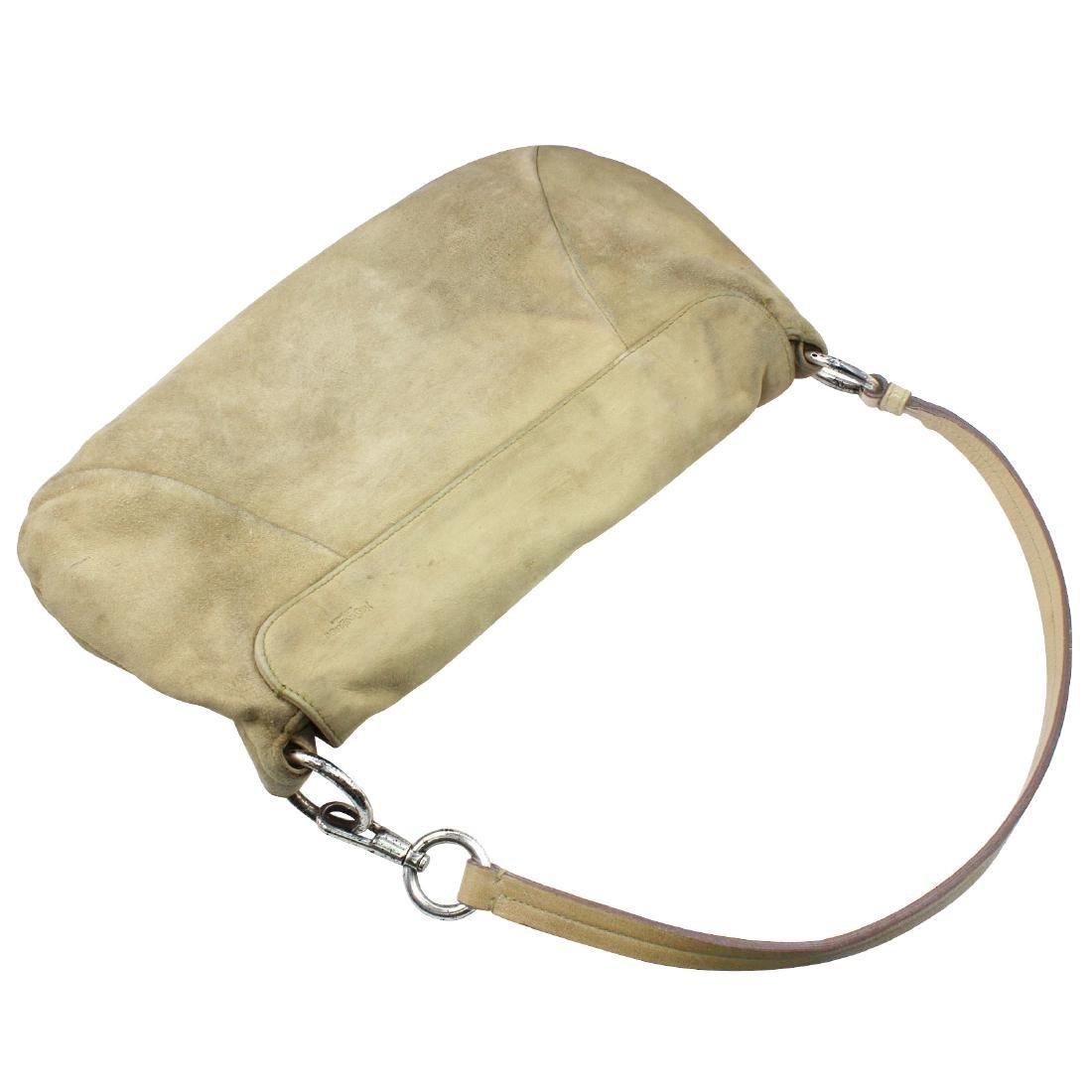 Yves Saint Laurent Nadja Rose Shoulder Bag Beige Suede - 4