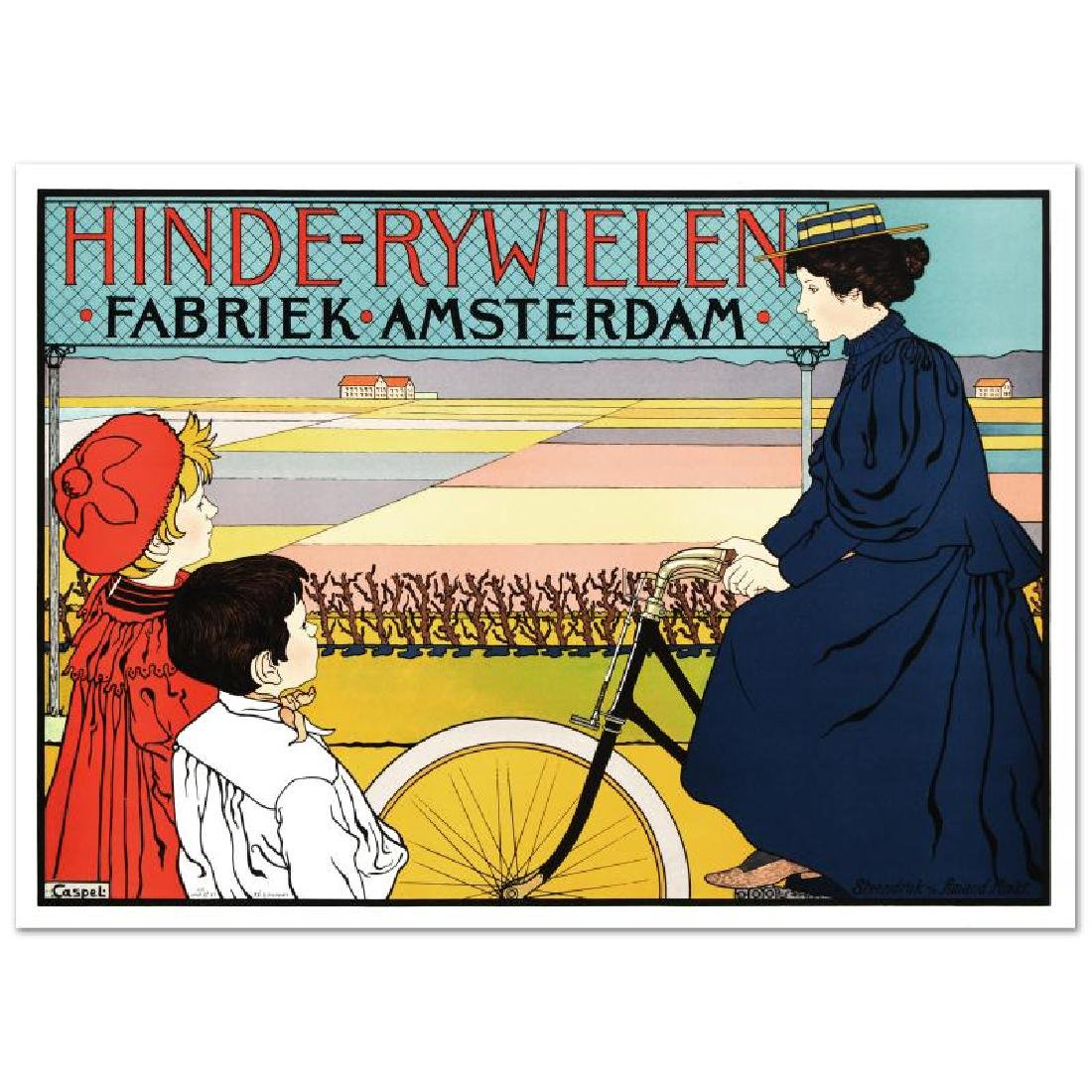 """""""Hinde Rywielen"""" Hand Pulled Lithograph (38"""" x 27"""") by"""