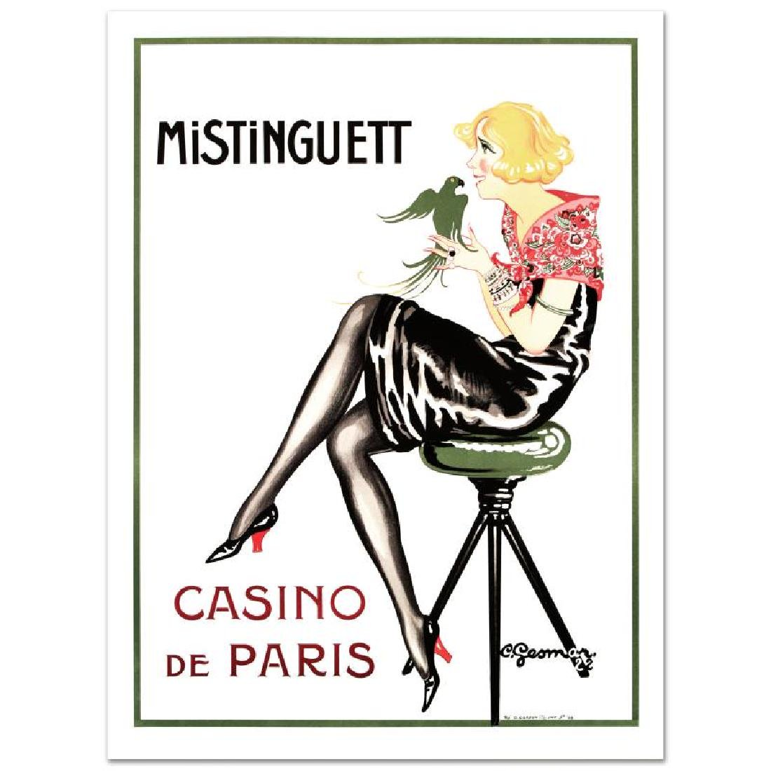 """Mistinguett-Parrot"" Hand Pulled Lithograph by the RE"