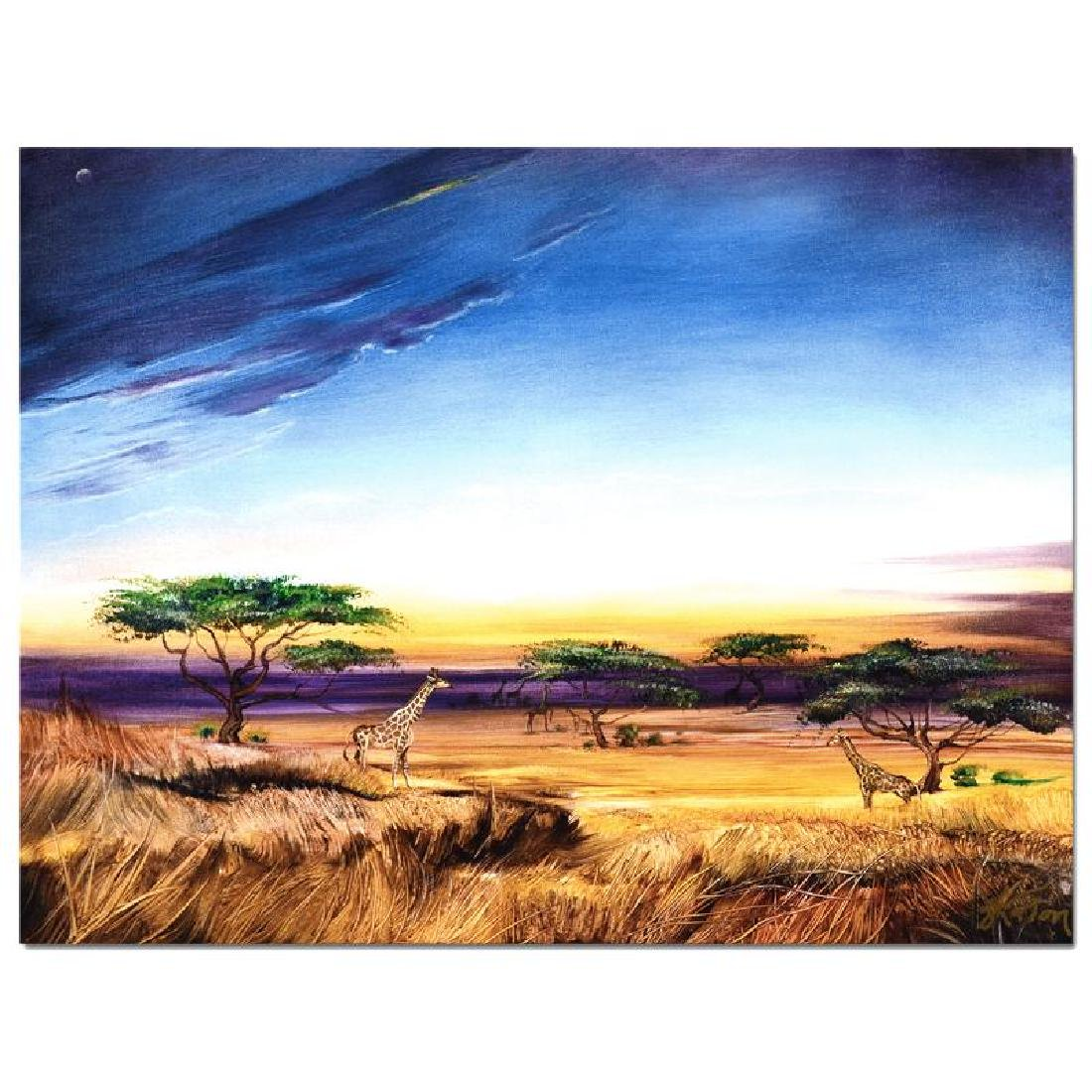 """""""Africa at Peace"""" Limited Edition Giclee on Gallery - 5"""