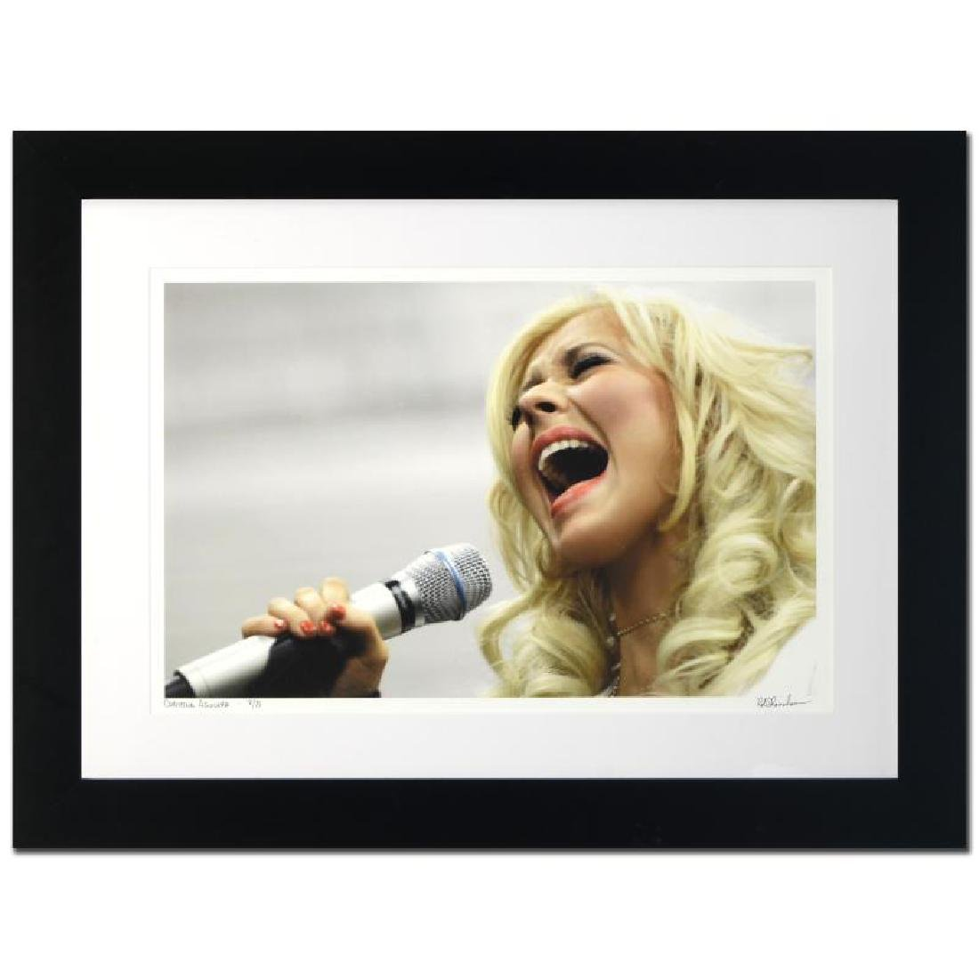 """""""Christina Aguilera"""" Limited Edition Giclee by Rob - 3"""