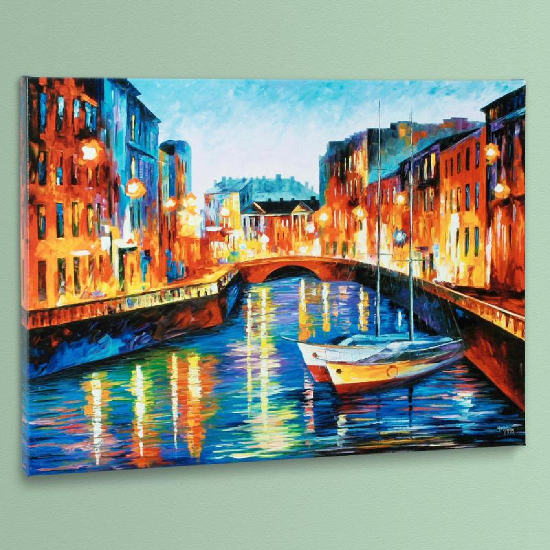 Evening River LIMITED EDITION Giclee on Canvas by