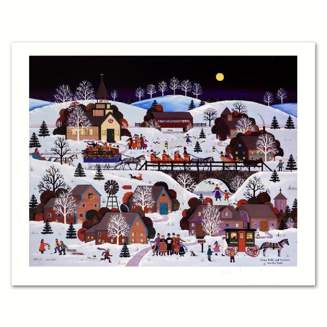"""Jingle Bells and Carolers"" Limited Edition Lithograph"
