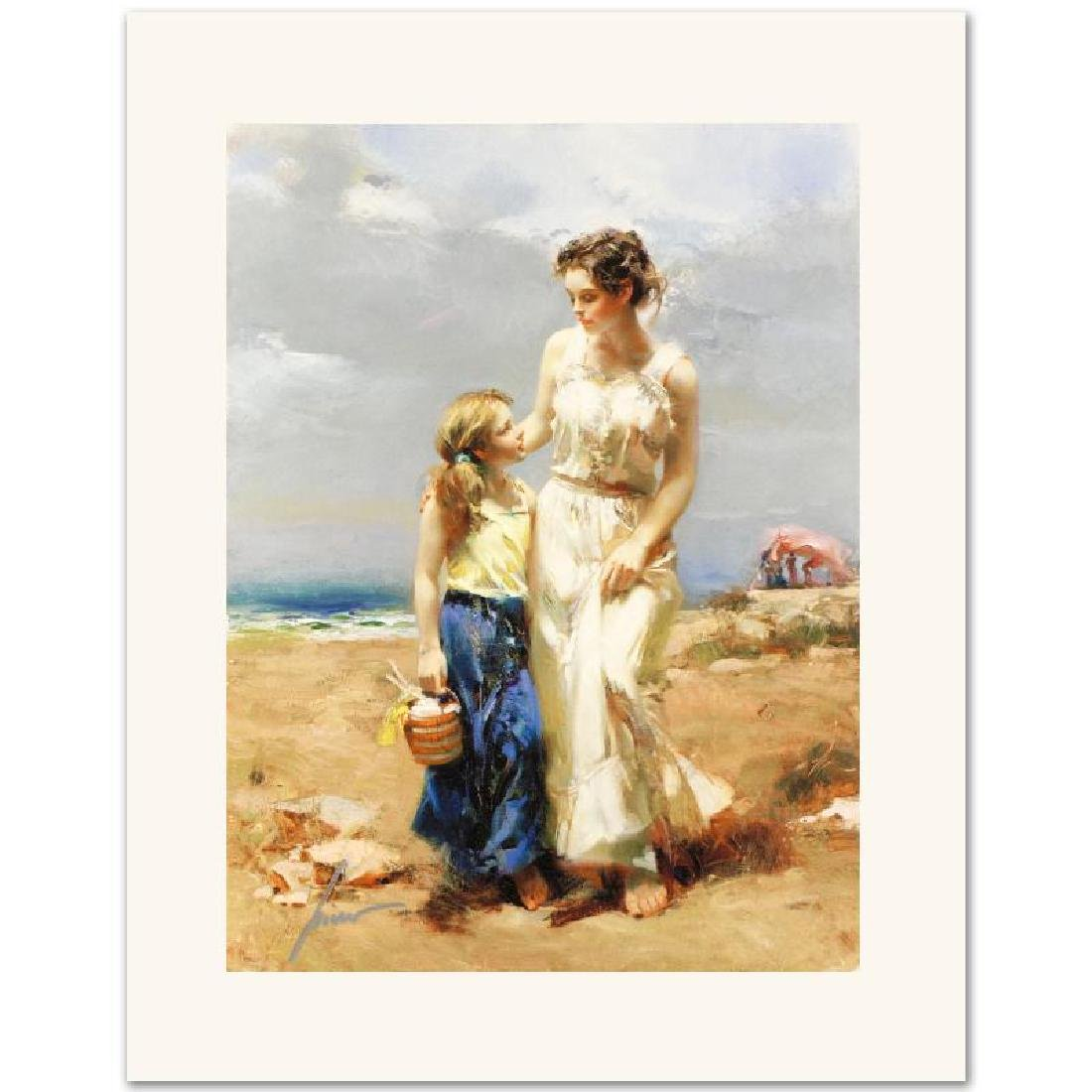 """""""By the Sea"""" Limited Edition Giclee on Canvas by Pino"""