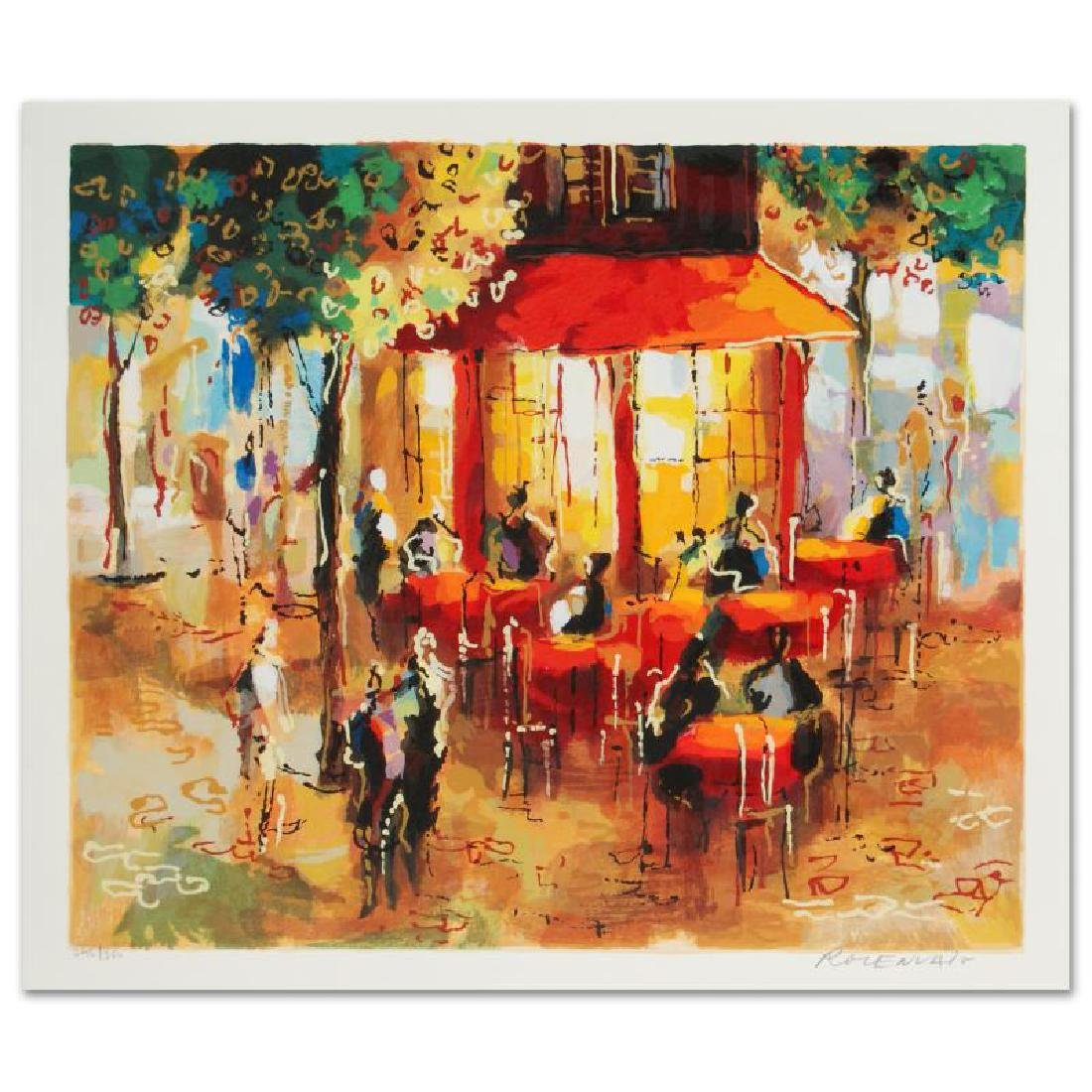 """""""Coffee in Paris"""" Limited Edition Serigraph by Michael"""