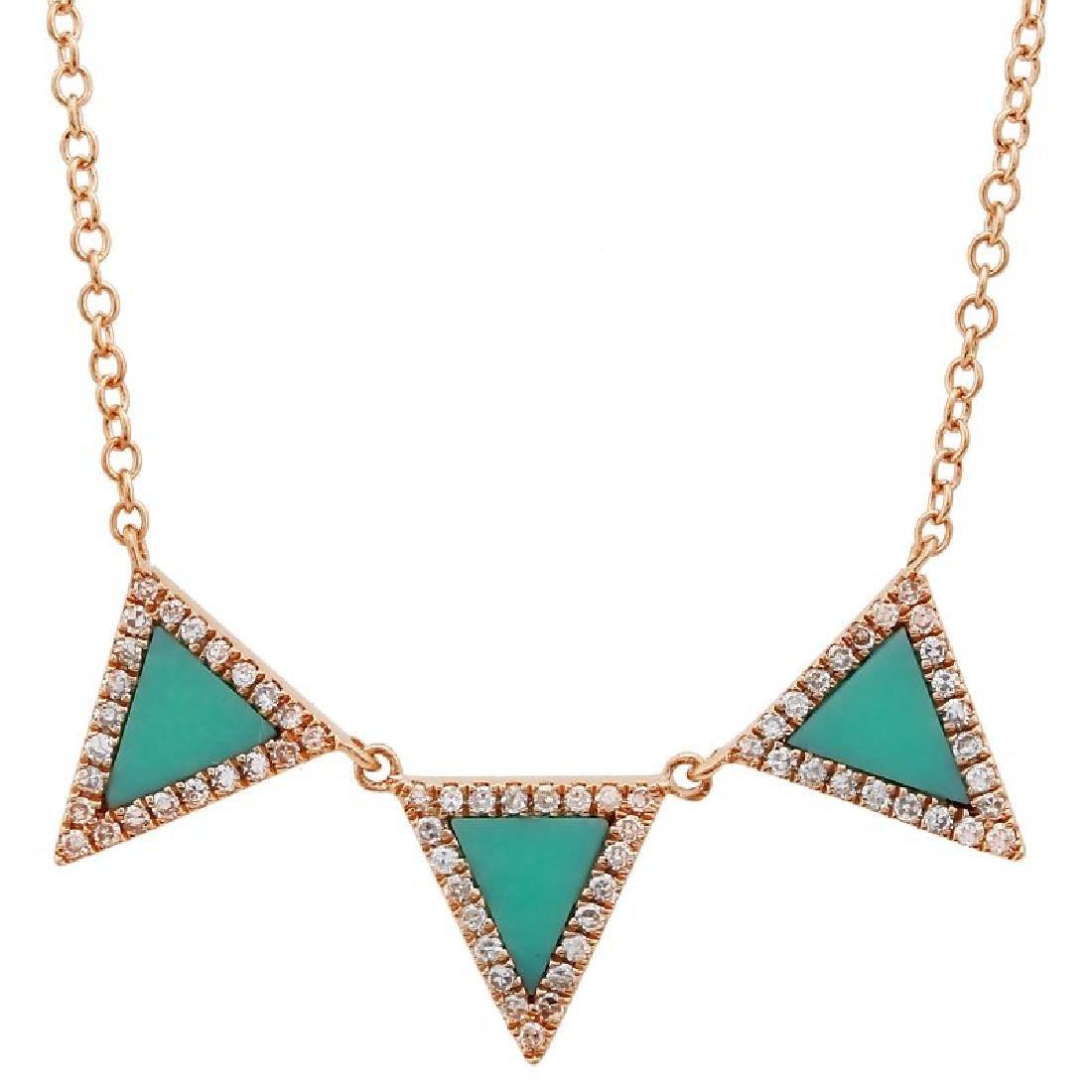 14KT Rose Gold Gemstone Necklace