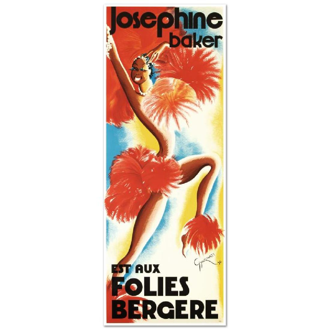 """Folies Bergere Josephine Baker"" Hand Pulled Lithograph"