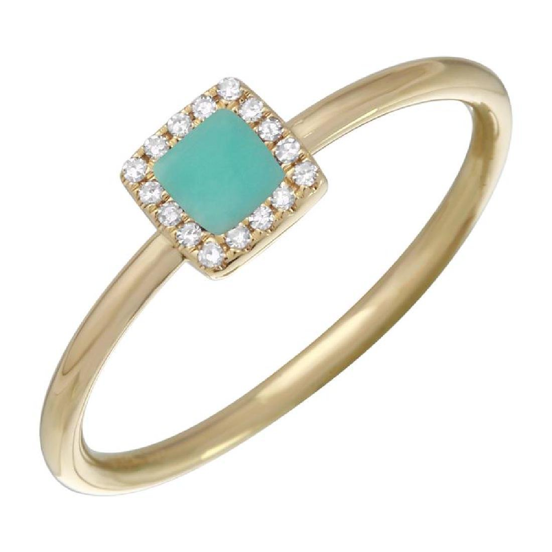 14KT Yellow Gold Gemstone Ring