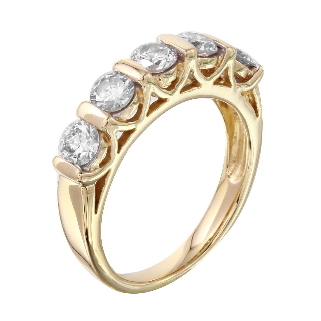 14KT Yellow Gold Diamond Ring - 2