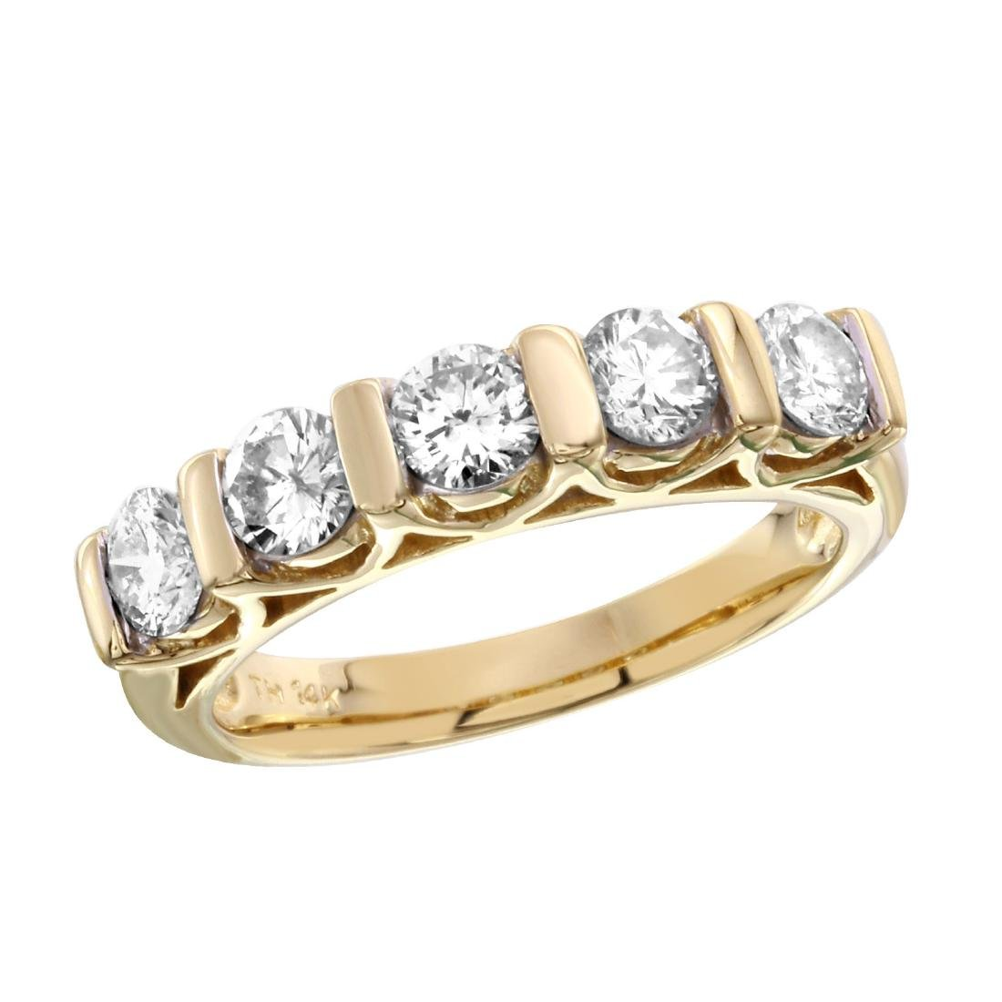 14KT Yellow Gold Diamond Ring - 3
