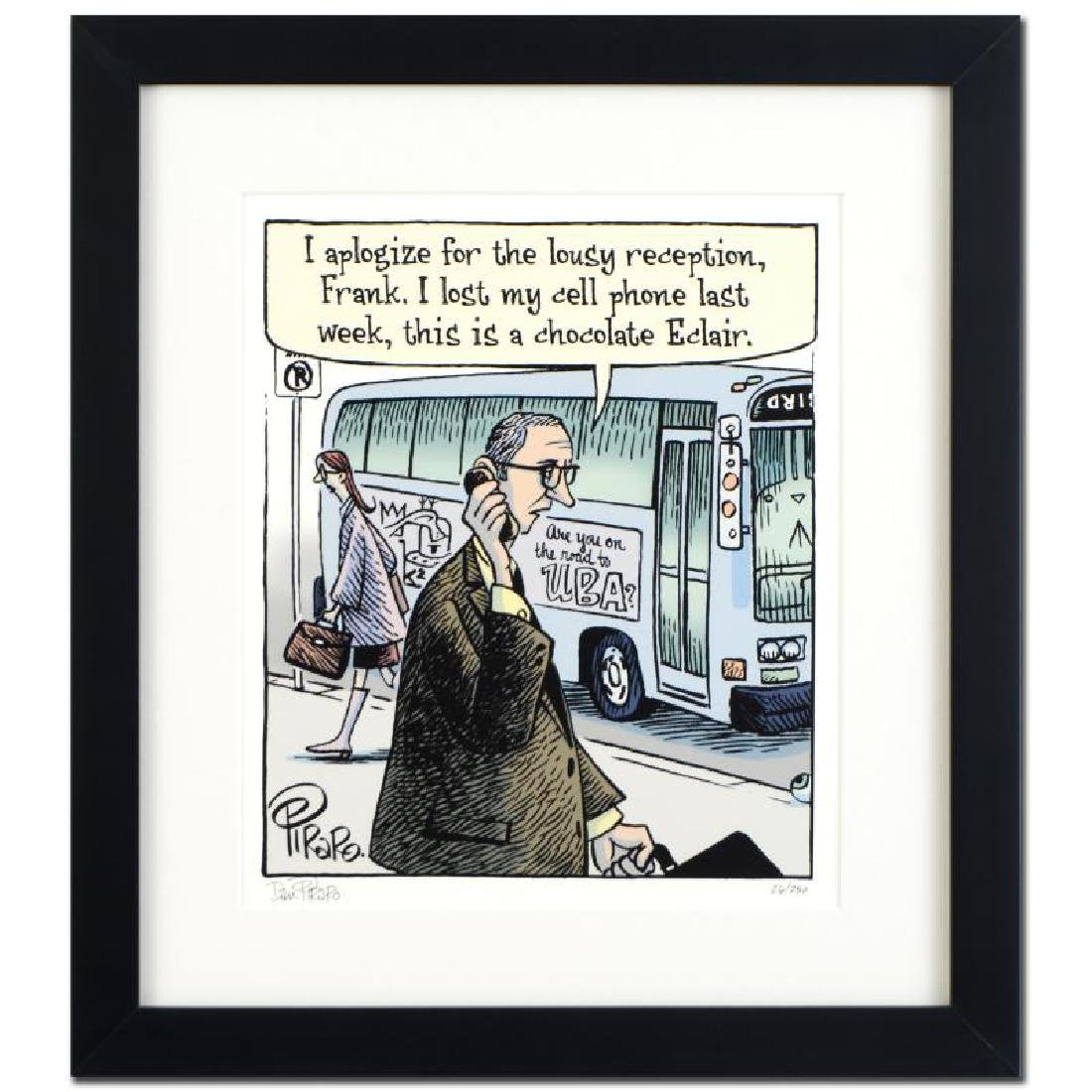 """Bizarro! """"Eclair Cell Phone"""" is a Framed Limited"""