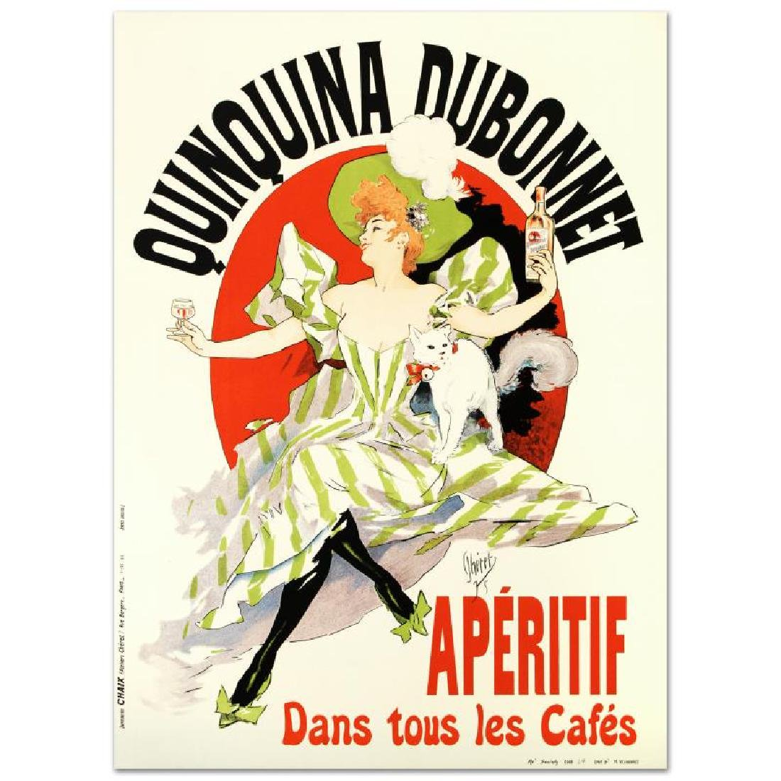 """Quinquina Dubonnet"" Hand Pulled Lithograph by the RE"