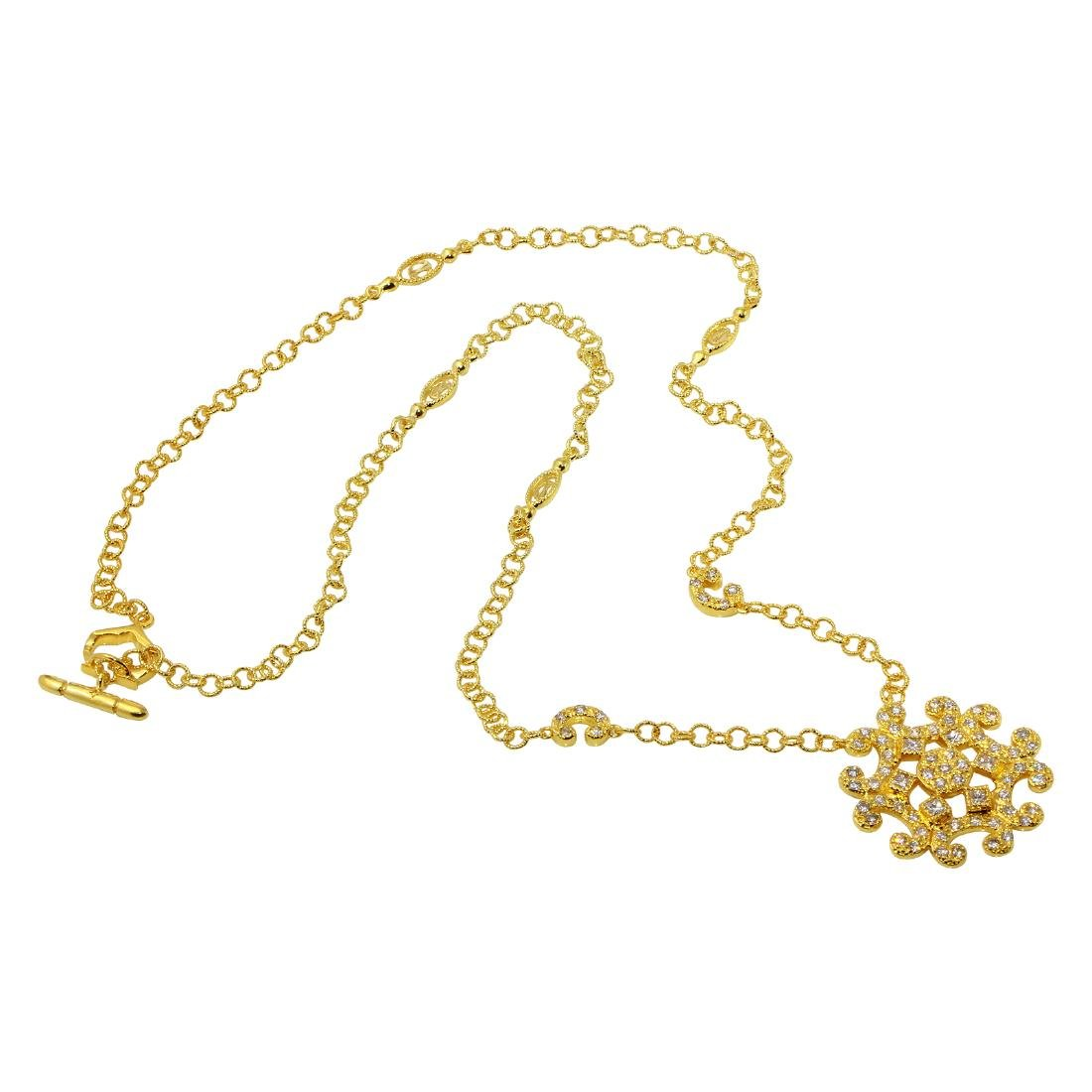 Philippe Charriol 18KT Yellow Gold Diamond Necklace - 2