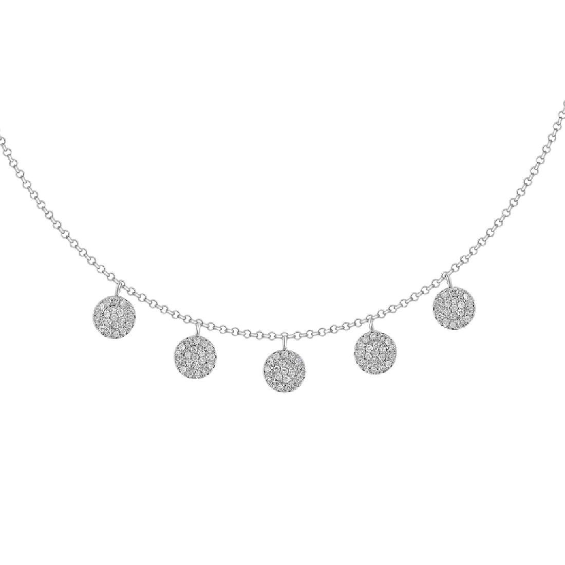 14KT White Gold Diamond Necklace