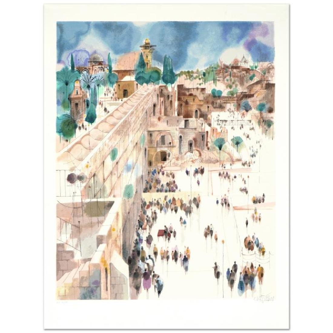 """""""Jerusalem-The Wall"""" Limited Edition Serigraph by - 3"""