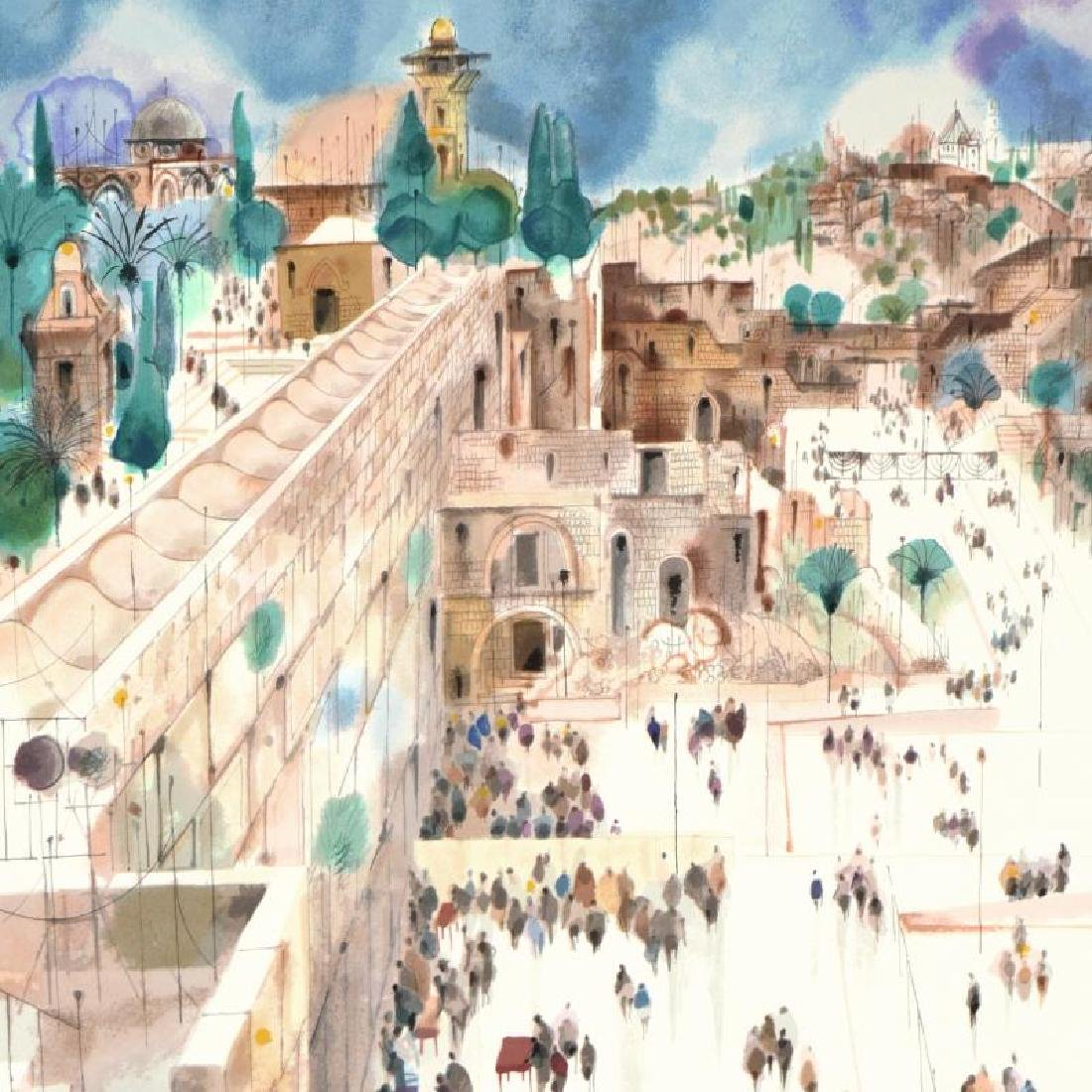 """""""Jerusalem-The Wall"""" Limited Edition Serigraph by - 4"""