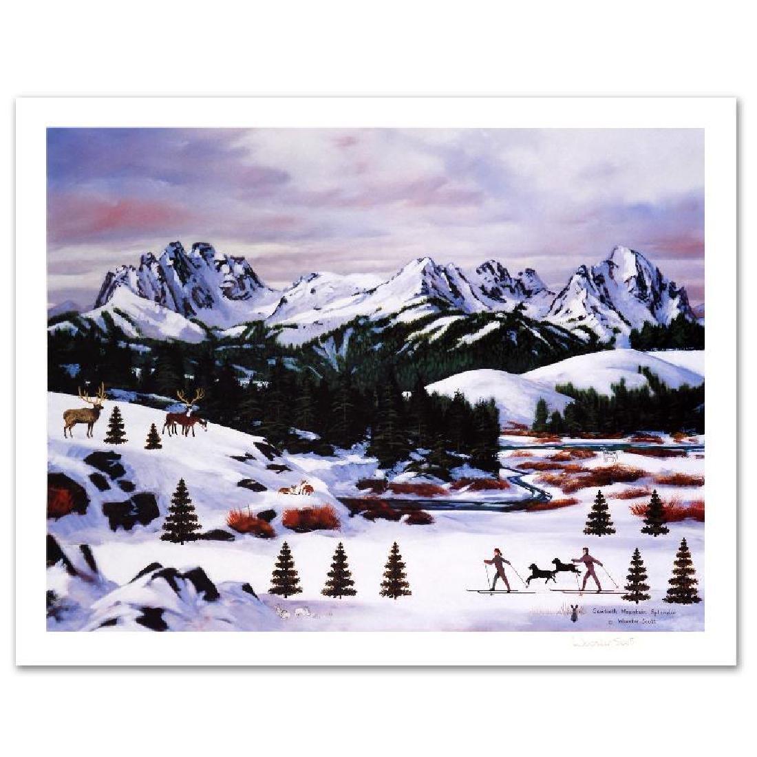 """Sawtooth Mountain Splendor"" Limited Edition Lithograph - 2"