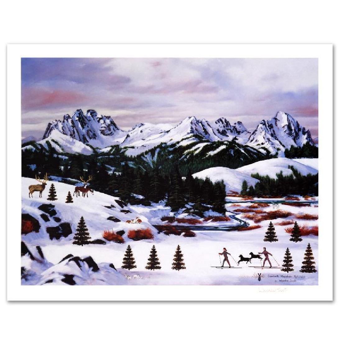 """Sawtooth Mountain Splendor"" Limited Edition Lithograph - 2"