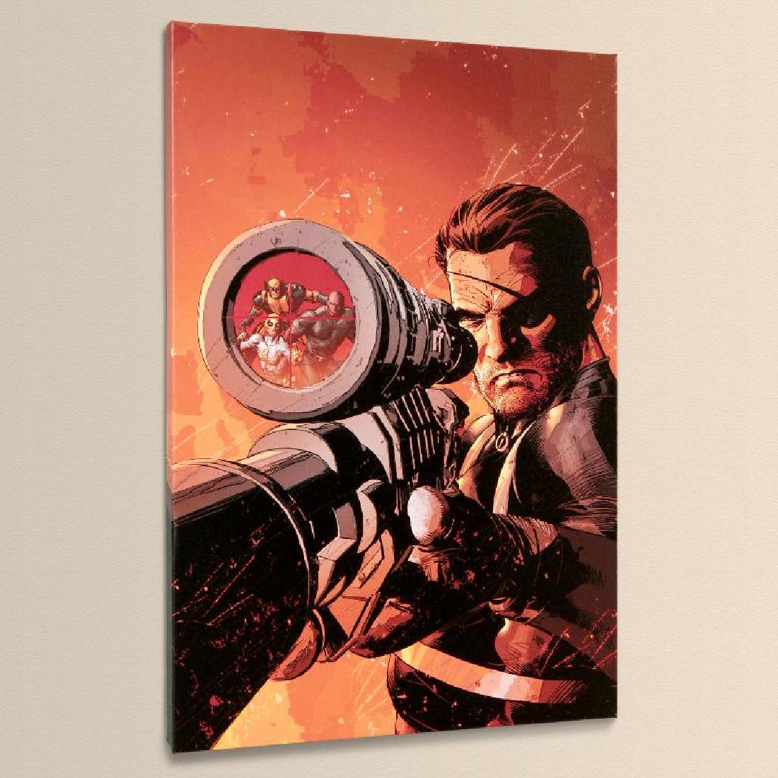 """""""New Avengers #9"""" LIMITED EDITION Giclee on Canvas by"""