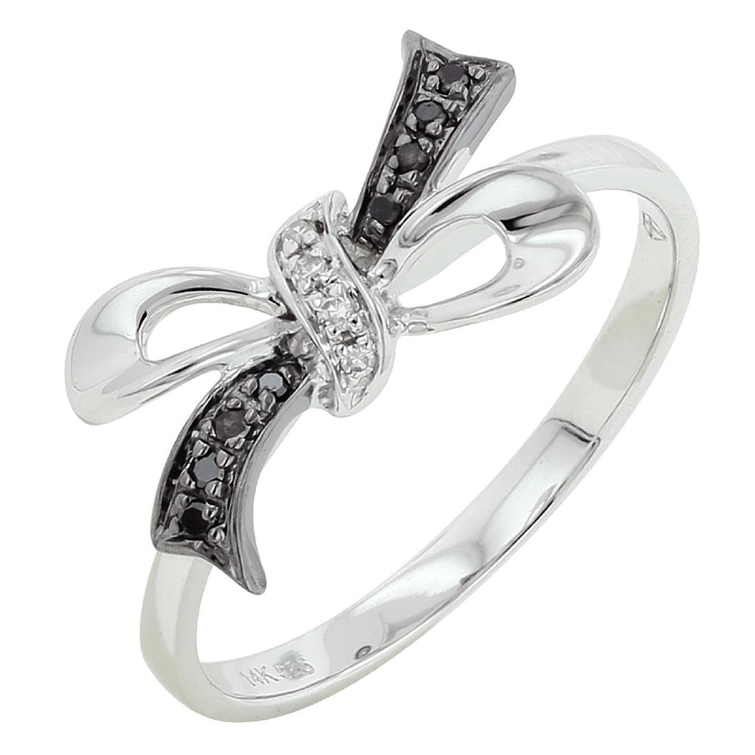 14KT White Gold Women's Diamond Ring - 2