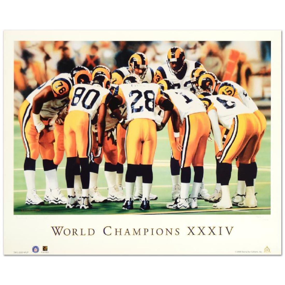 """Daniel M. Smith - """"World Champion XXXIV (Rams)"""" Limited"""