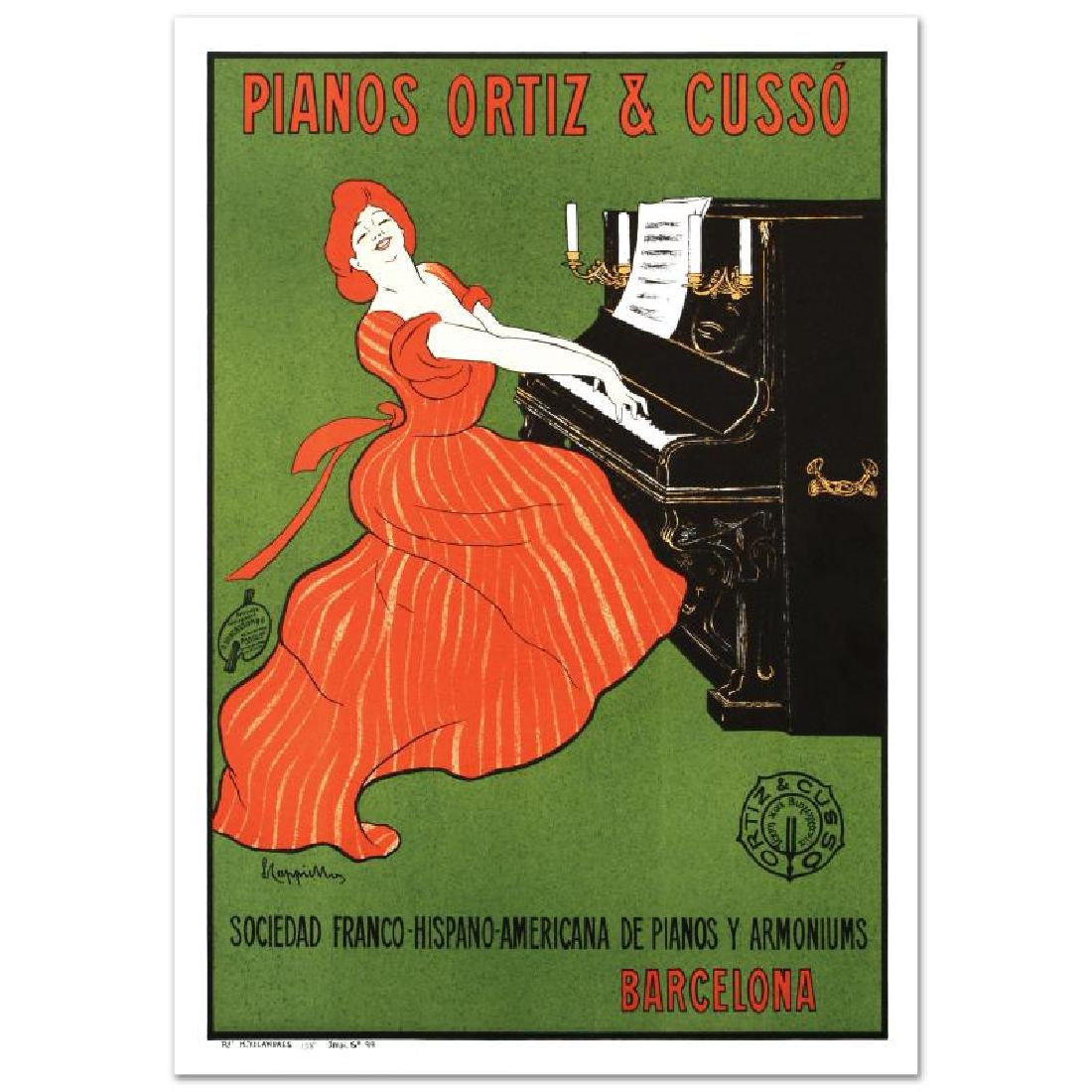 """""""Piano Ortiz and Cuzzo"""" Hand Pulled Lithograph by the - 3"""