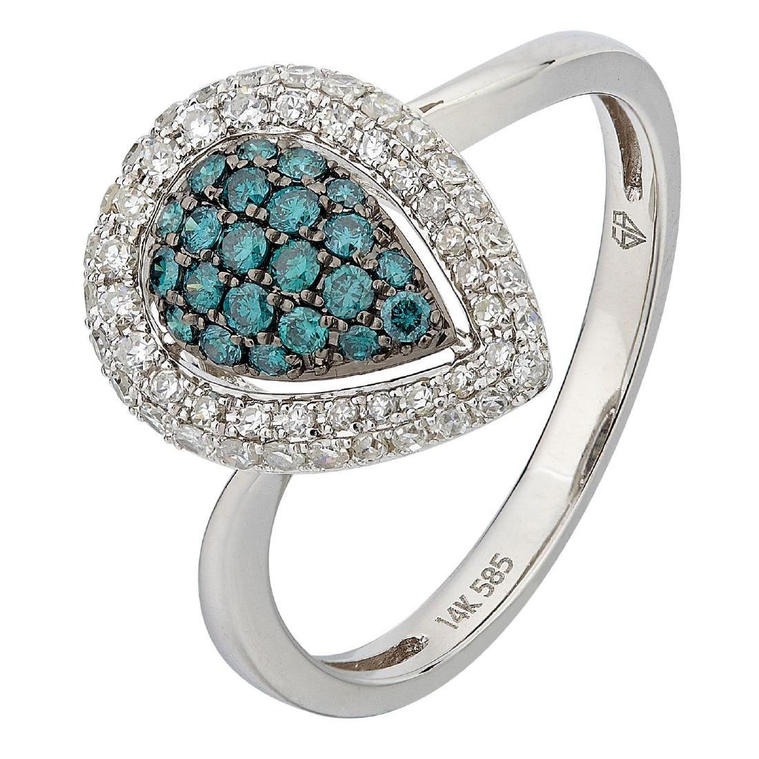14KT  Gold Women's Diamond Ring - 2