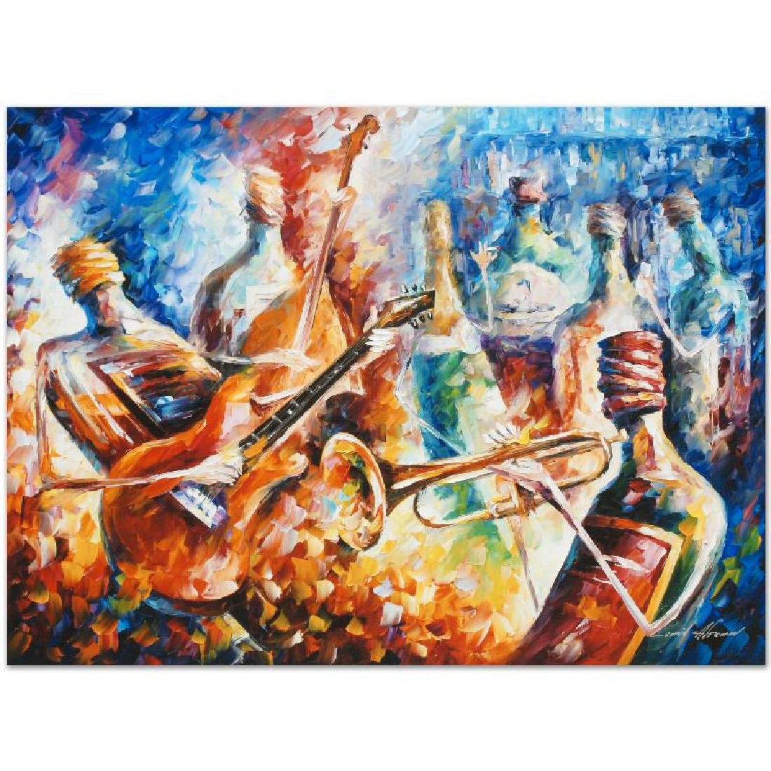 Bottle Jazz II LIMITED EDITION Giclee on Canvas by - 2