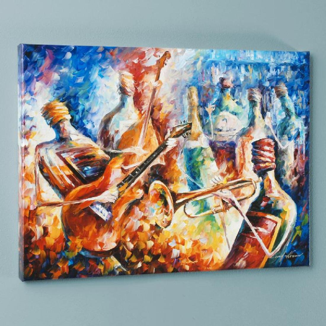 Bottle Jazz II LIMITED EDITION Giclee on Canvas by - 3
