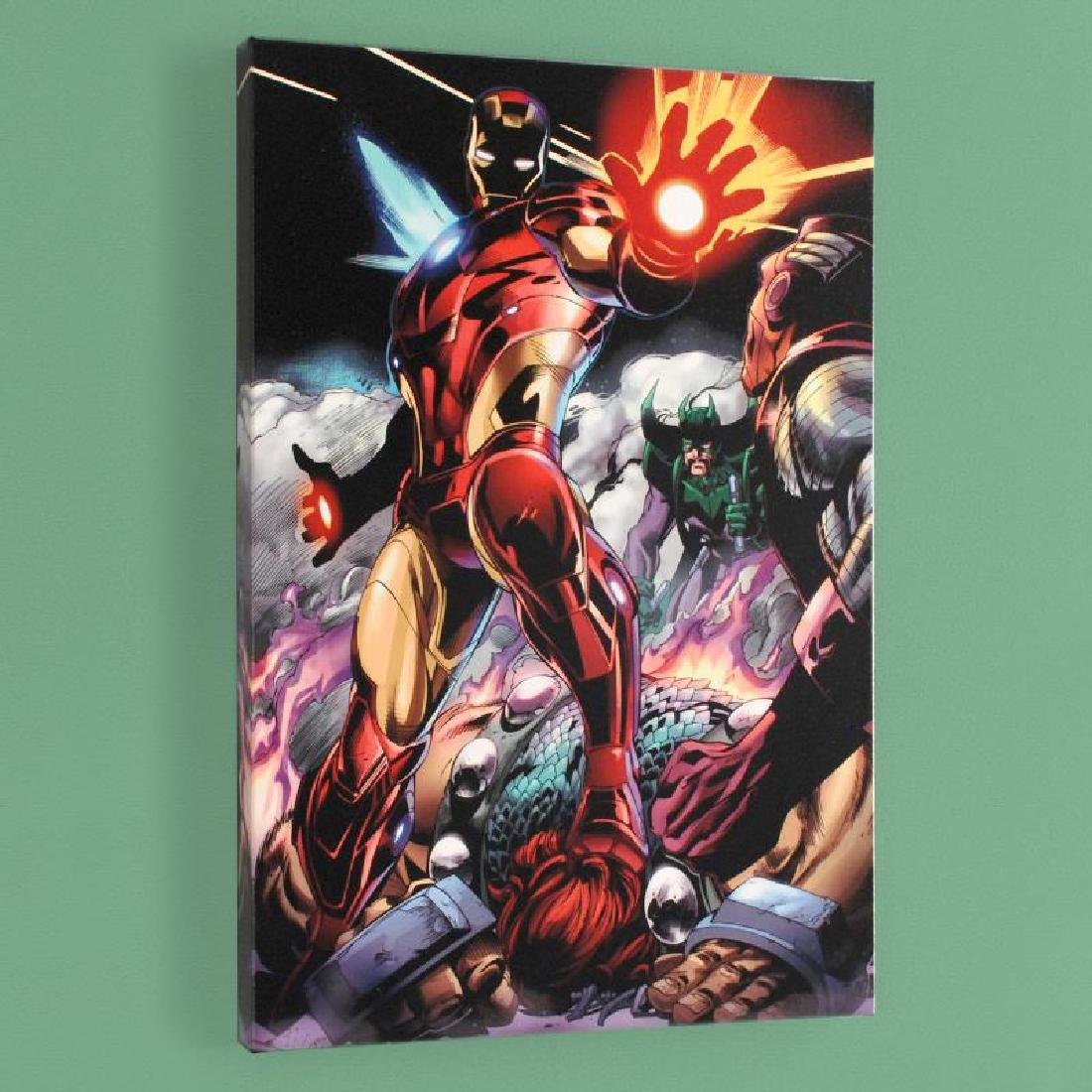 """""""Iron Man/Thor #2"""" Limited Edition Giclee on Canvas by"""