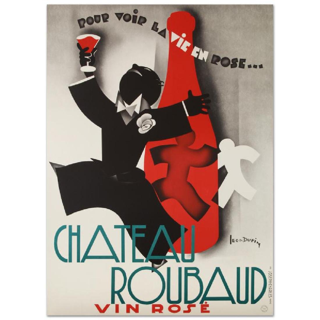 """""""Chateau Roubaud"""" Hand Pulled Lithograph (36.5"""" x 50"""")"""