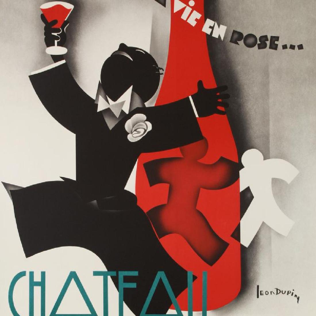 """""""Chateau Roubaud"""" Hand Pulled Lithograph (36.5"""" x 50"""") - 4"""