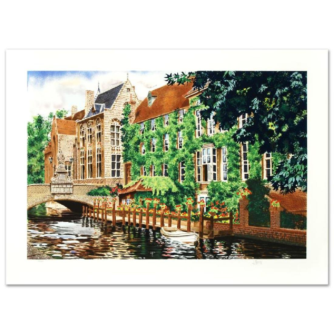 """""""Open Window in Belgium"""" Limited Edition Serigraph by"""