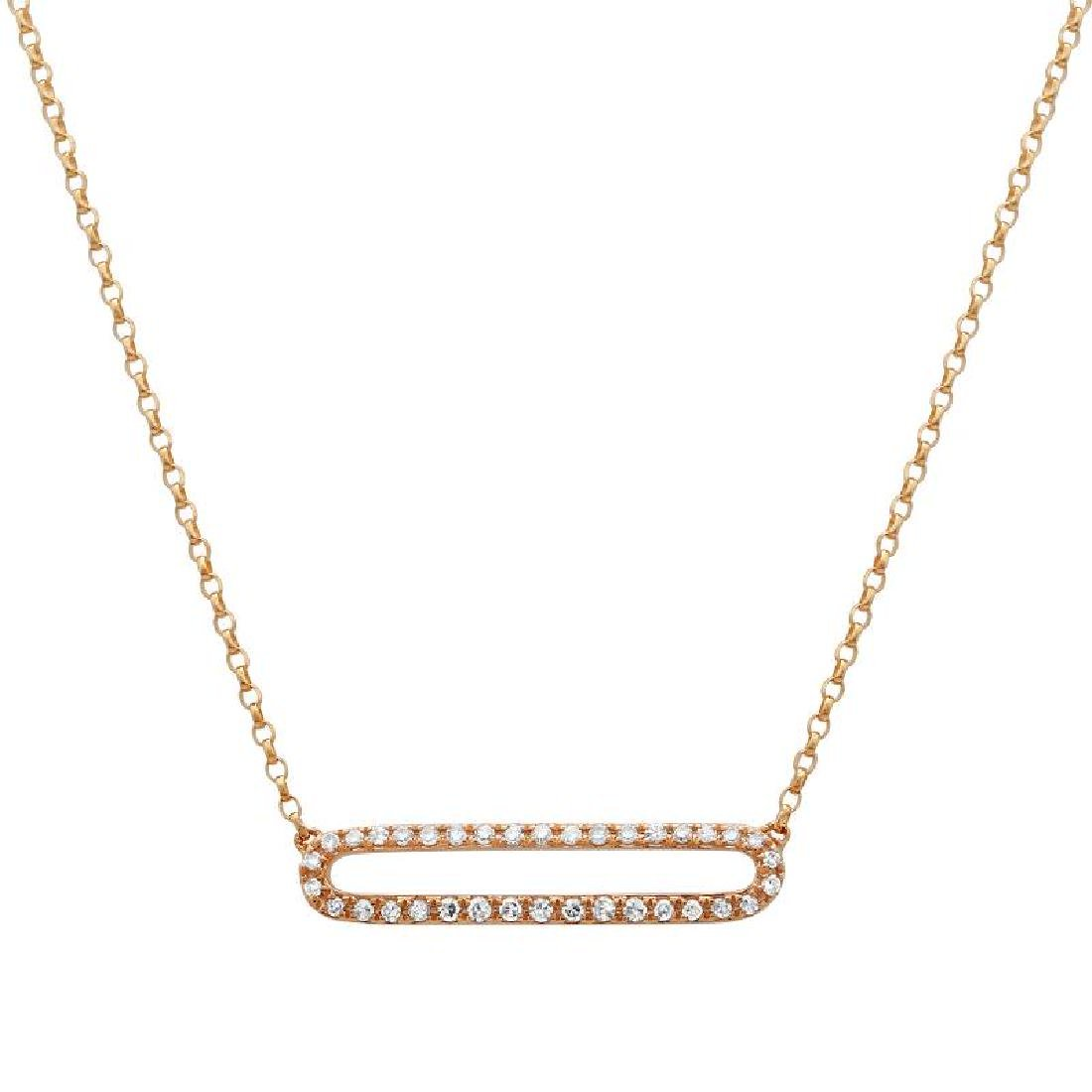 14KT Rose Gold Diamond Necklace