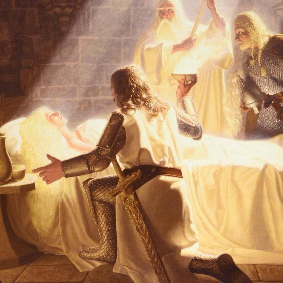 """""""The Healing Of Eowyn"""" Limited Edition Giclee on Canvas - 4"""