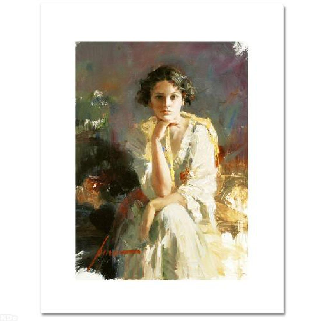 """Yellow Shawl"" LIMITED EDITION Artist-Embellished - 3"