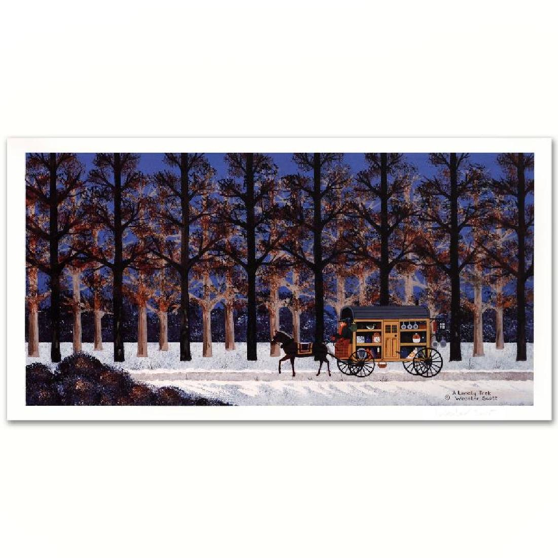 """A Lonely Trek"" Limited Edition Lithograph by Jane"