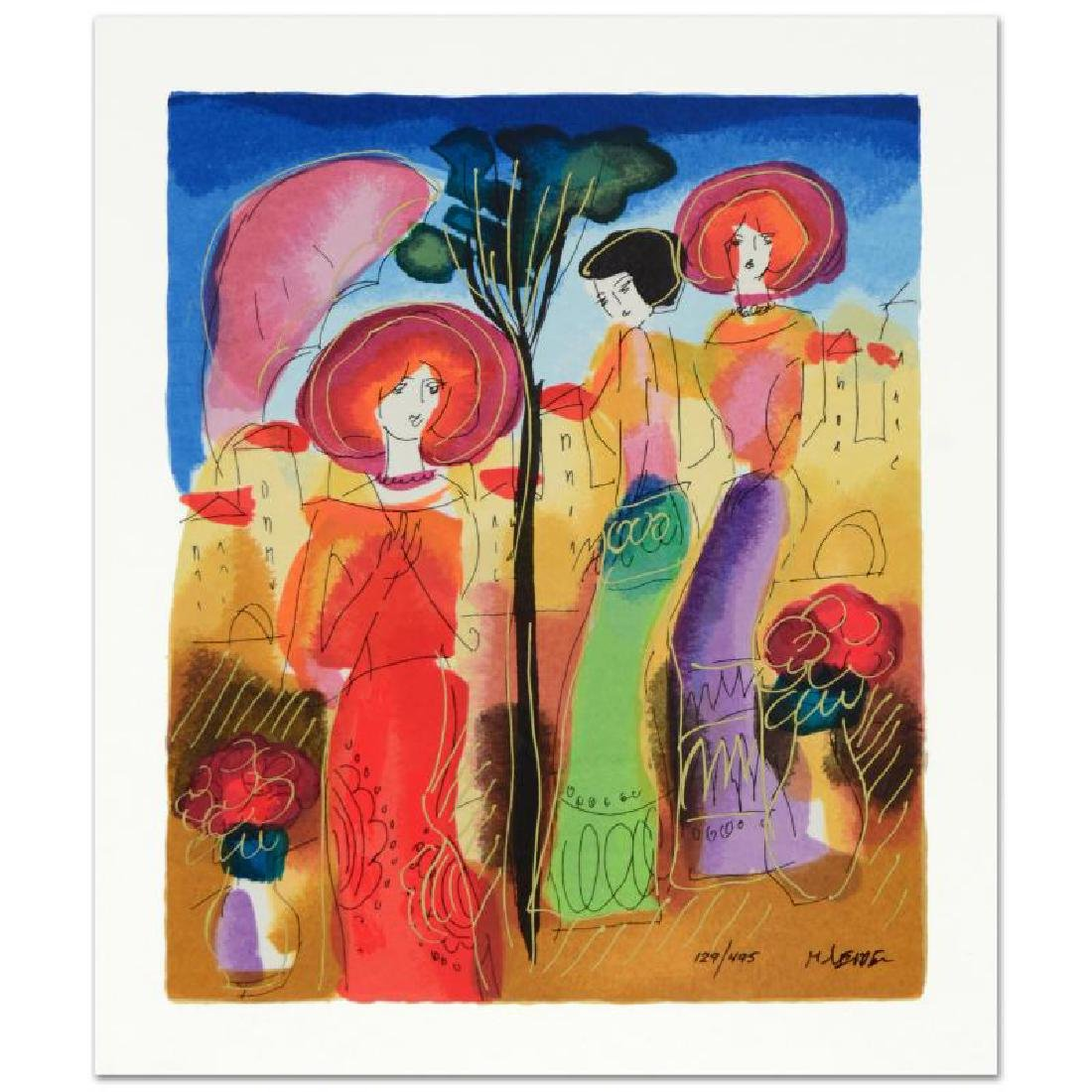 """""""Afternoon Walk"""" Limited Edition Serigraph by Moshe"""