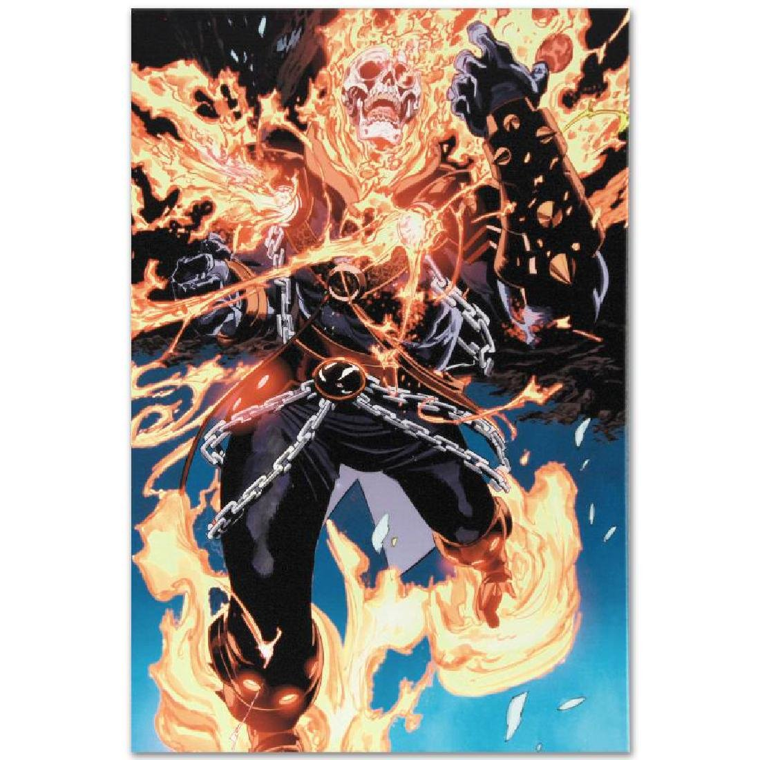 """Ghost Rider #28"" LIMITED EDITION Giclee on Canvas by - 6"