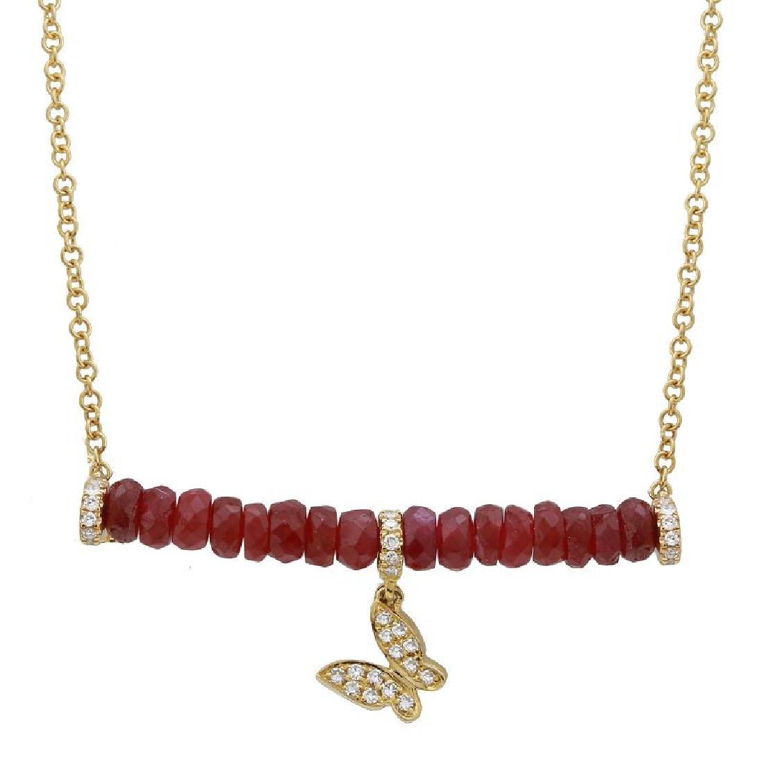 14KT Yellow Gold Gemstone Necklace