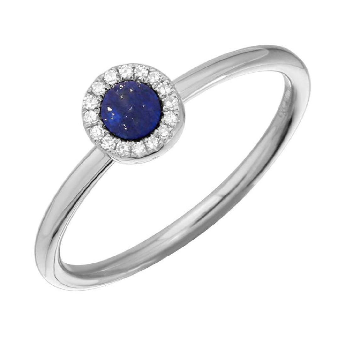 14KT White Gold Gemstone Ring