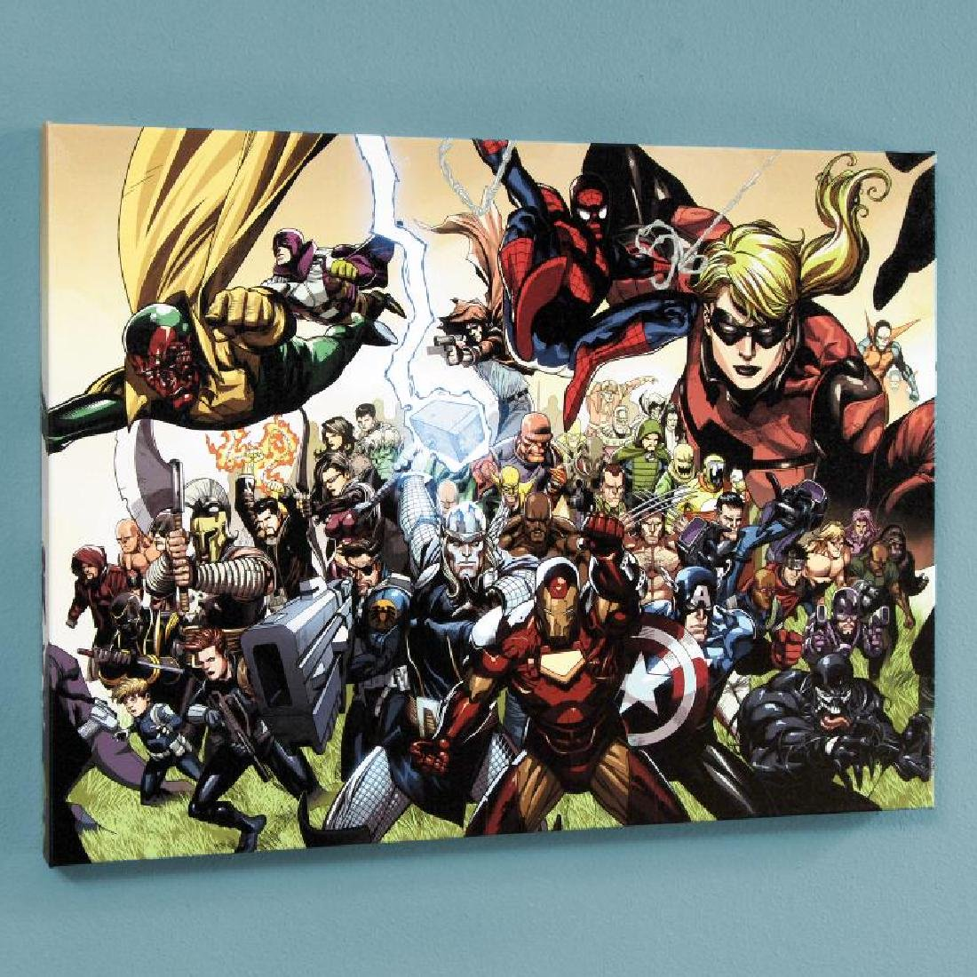 """Secret Invasion #6"" LIMITED EDITION Giclee on Canvas - 4"