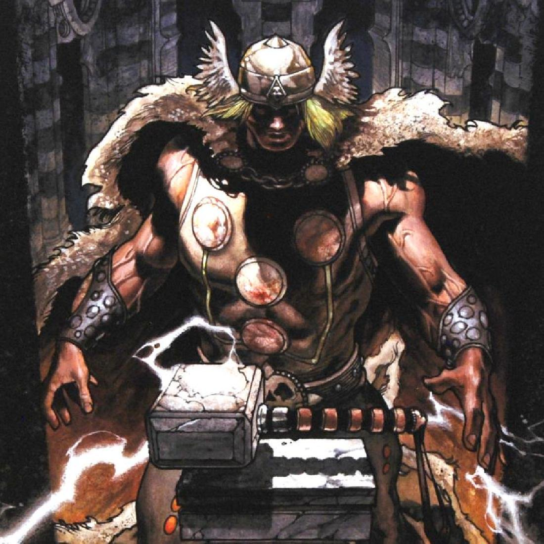 """""""Thor: For Asgard #6"""" Limited Edition Giclee on Canvas - 3"""