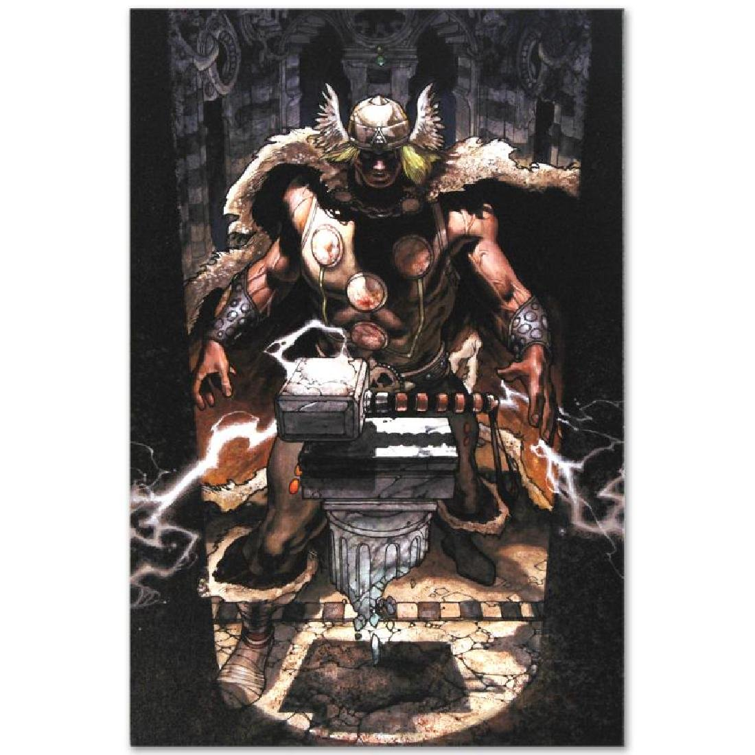"""""""Thor: For Asgard #6"""" Limited Edition Giclee on Canvas - 4"""